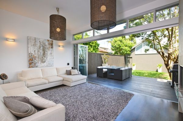 bifold doors connect the outside to indoors
